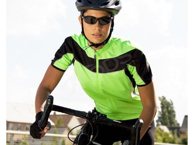 damsky cyklisticky dres bike full zeleny