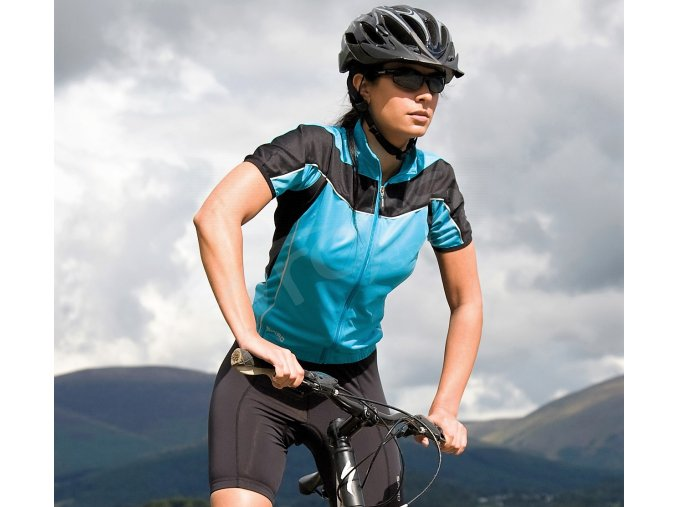 damsky cyklisticky dres bike full modry