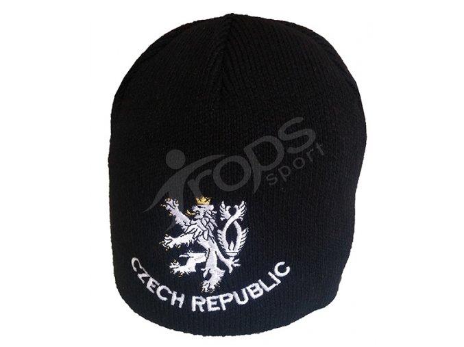 Zimní čepice CZECH REPUBLIC černá