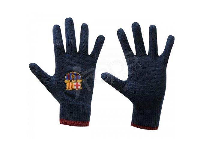 Zimní rukavice FC Barcelona dětské modré