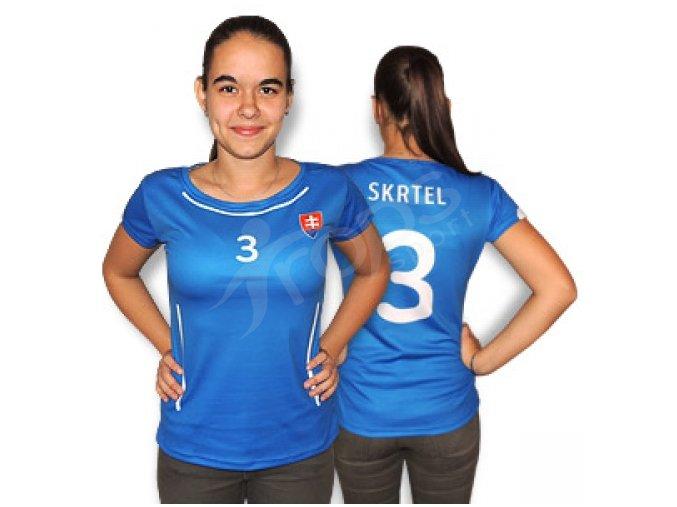 Dámský fotbalový dres Slovensko 2015, modrý