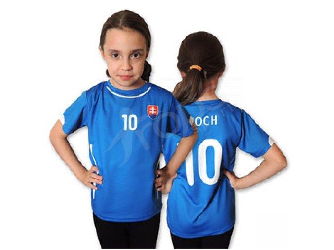 Dětský fotbalový dres Slovensko modrý