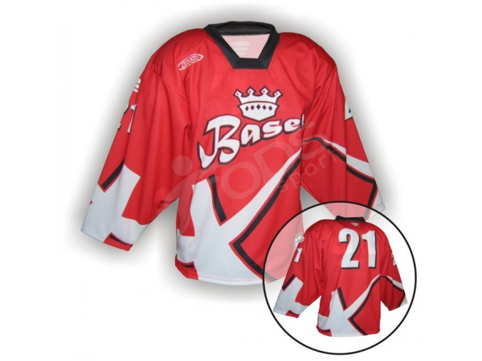 Hokejový dres BASEL - VLASTNÍ JMÉNO a ČÍSLO