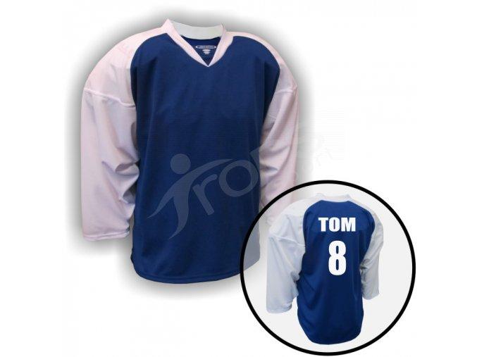 Hokejový dres SHAPELY - VLASTNÍ JMÉNO a ČÍSLO - modrý