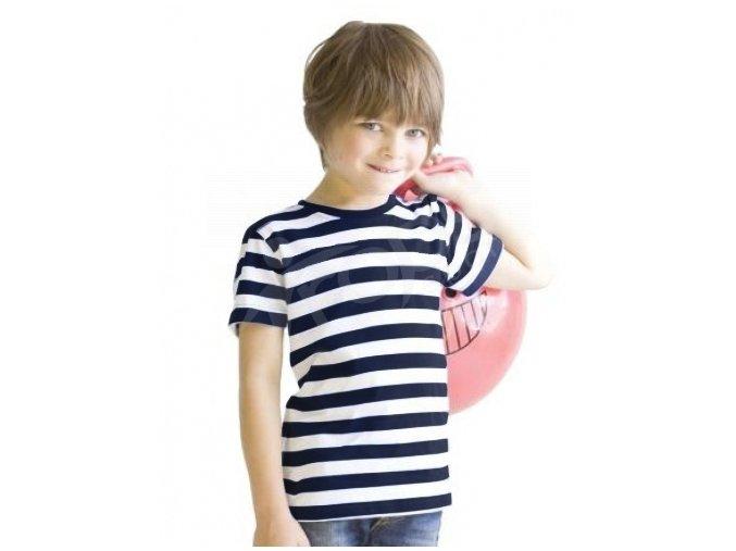 Dětské námořnické tričko navy