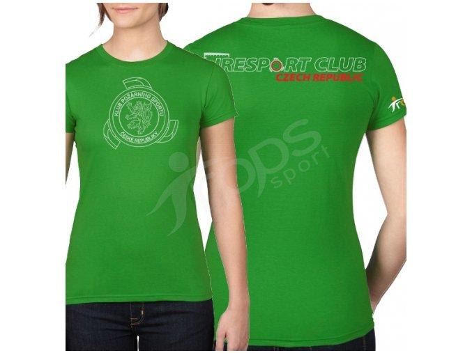 Dámské tričko KPS, zelené