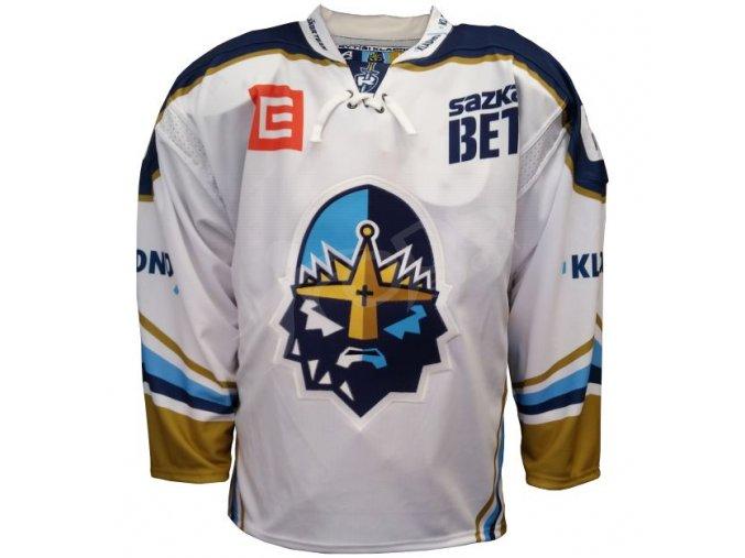 hokejovy dres rytiri kladno original vlastni jmeno a cislo bily
