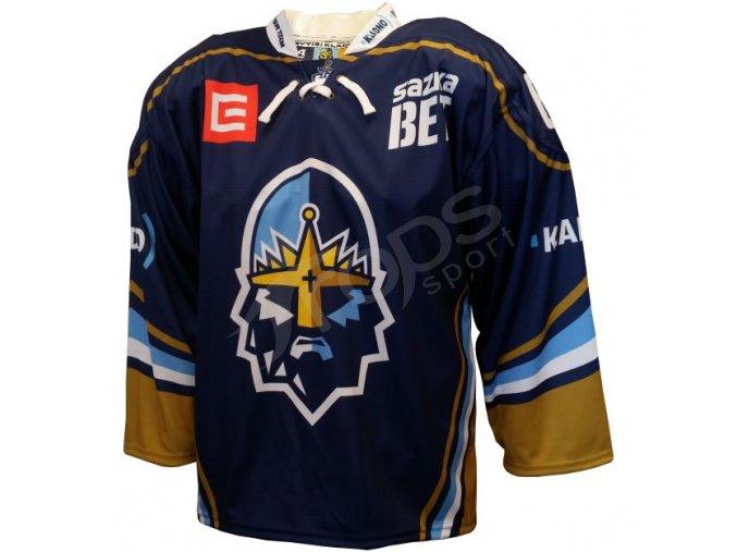 hokejovy dres rytiri kladno authentic vlastni jmeno a cislo modry
