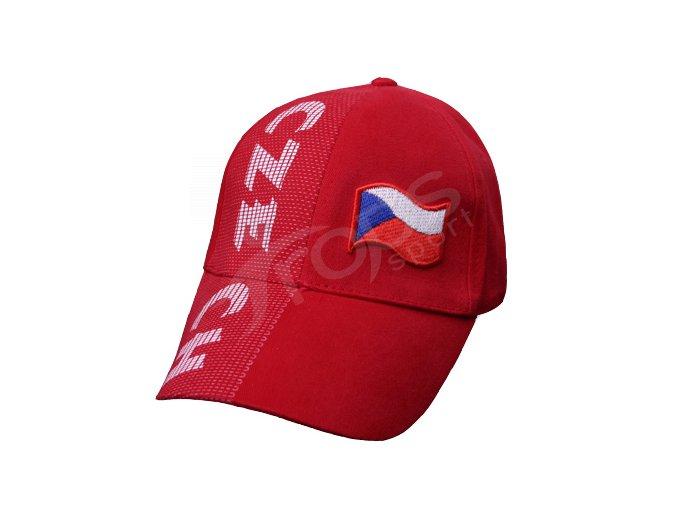 Kšiltovka ČESKÁ REPUBLIKA červená
