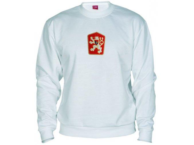 Mikina ČSSR retro klasic bílá