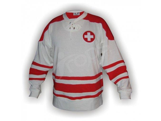 Hokejový dres RETRO ŠVÝCARSKO