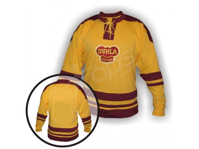 Hokejový dres RETRO DUKLA JIHLAVA - žlutý