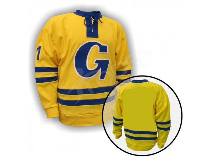 Hokejový dres RETRO GOTTWALDOV - žlutý