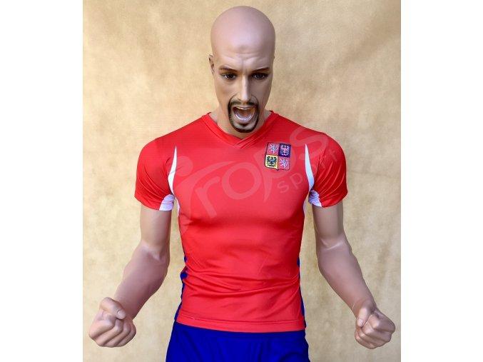 fotbalovy dres cr cerveny