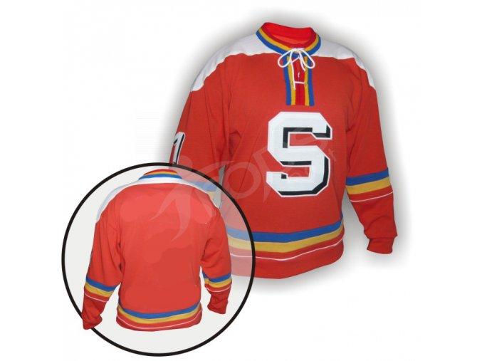 Hokejový dres RETRO SPARTA PRAHA červený