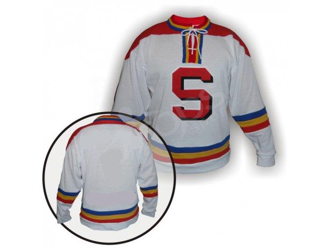 Hokejový dres RETRO SPARTA PRAHA - bílý
