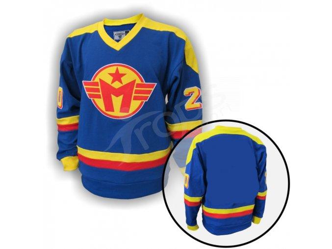 Hokejový dres RETRO MOTOR ČESKÉ BUDĚJOVICE - modrý