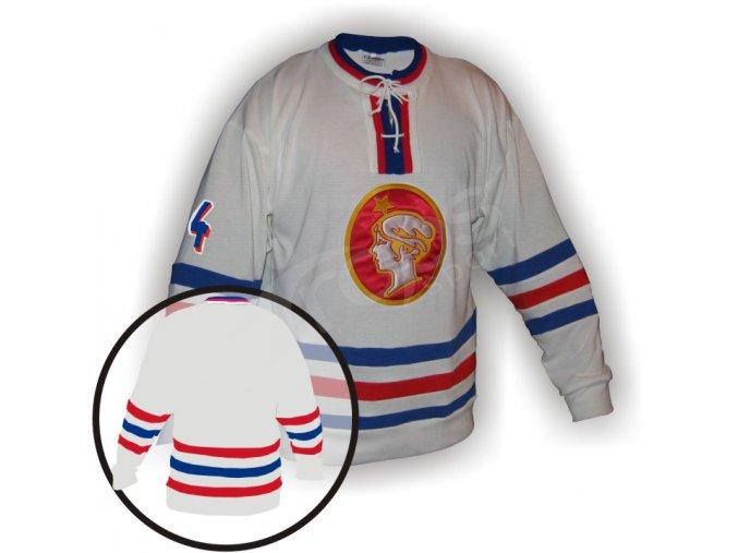 Hokejový dres RETRO POLDI KLADNO - bílý