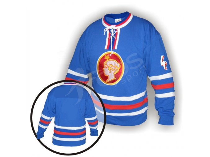 Hokejový dres RETRO POLDI KLADNO modrý