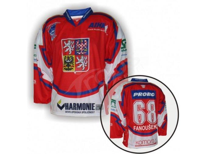 Hokejový dres in-line CZECH - červený