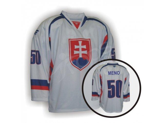 Hokejový dres PROFI SLOVENSKO - bílý
