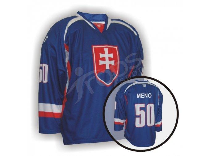 Hokejový dres PROFI SLOVENSKO - modrý