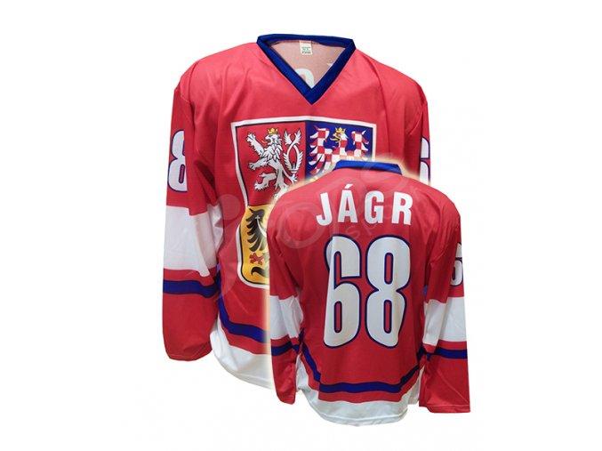 Hokejový dres ČR JAROMÍR JÁGR - červený