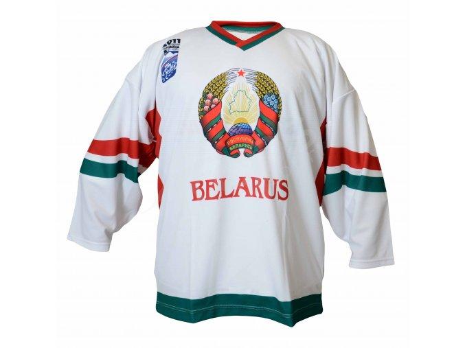 Hokejový dres Bělorusko TOP - bílý