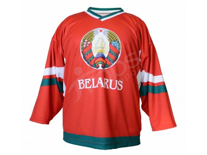 Hokejový dres Bělorusko TOP - červený