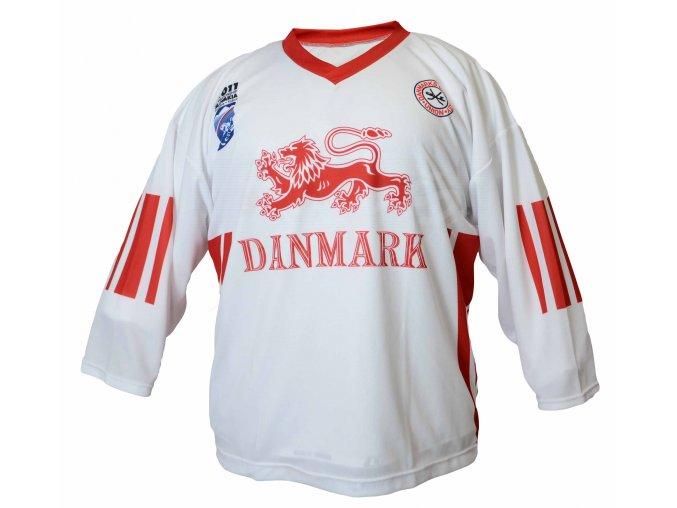 Hokejový dres Dánsko TOP - bílý