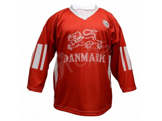 Hokejový dres Dánsko TOP - červený