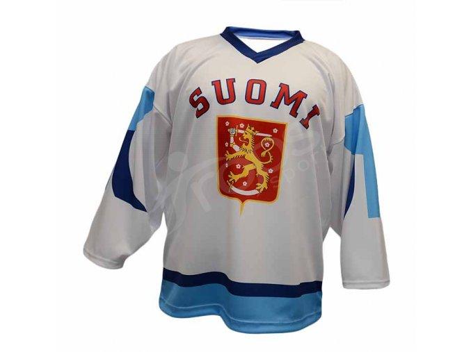 Hokejový dres Finsko TOP - bílý