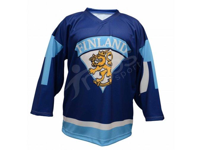Hokejový dres Finsko TOP - modrý