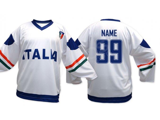 Hokejový dres Itálie TOP - bílý