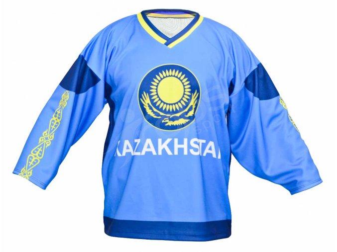 Hokejový dres Kazachstán TOP - modrý