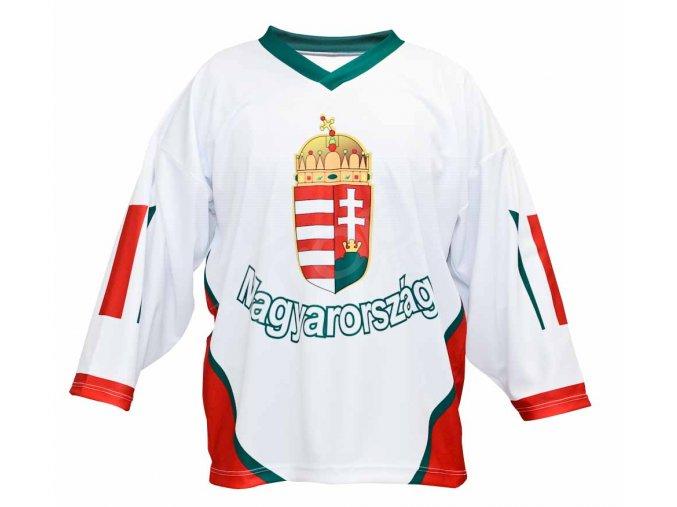 Hokejový dres Maďarsko TOP - bílý