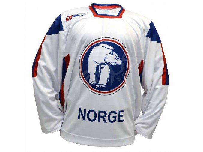 Hokejový dres Norsko TOP - bílý