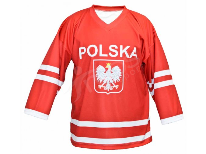 Hokejový dres Polsko TOP - červený