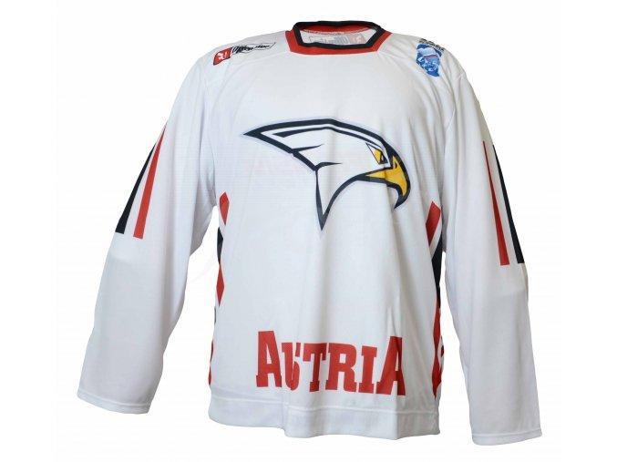 Hokejový dres Rakousko TOP - bílý