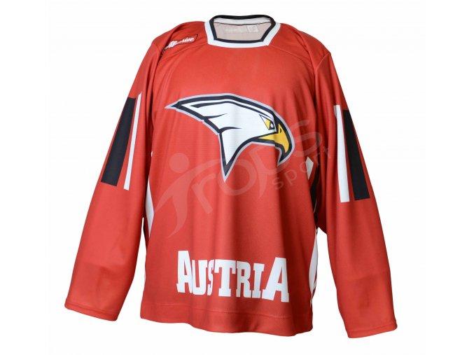 Hokejový dres Rakousko TOP - červený
