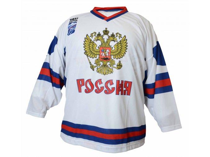 Hokejový dres Rusko TOP - bílý