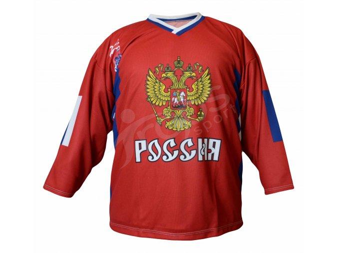 Hokejový dres Rusko TOP - červený