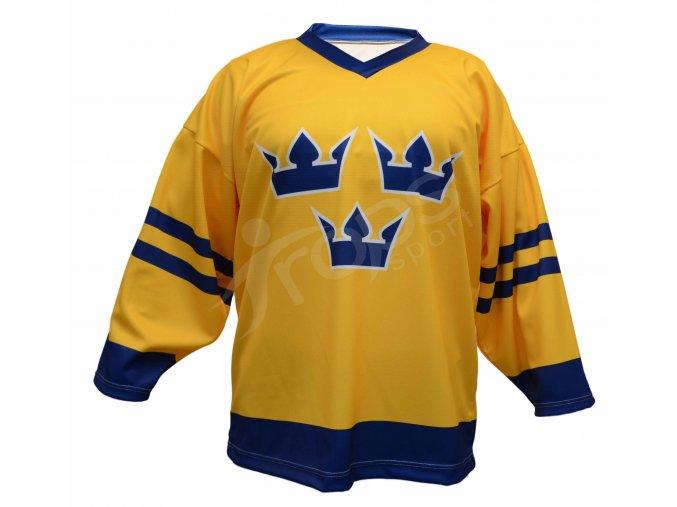 Hokejový dres Švédsko TOP - žlutý