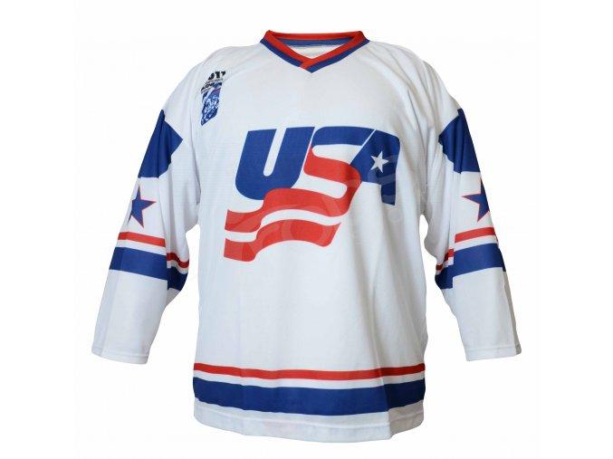 Hokejový dres USA TOP - bílý