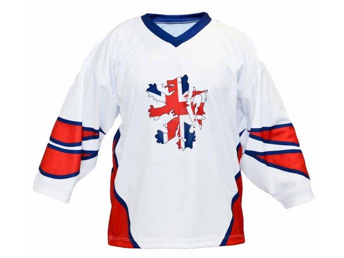 Hokejový dres Velká Británie TOP - bílý