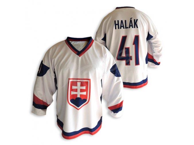 Hokejový dres Slovensko TOP - bílý