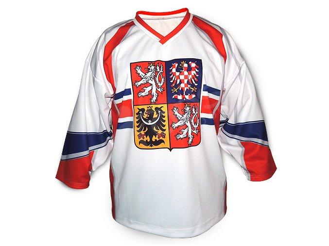 Hokejový dres ČR TOP - bílý