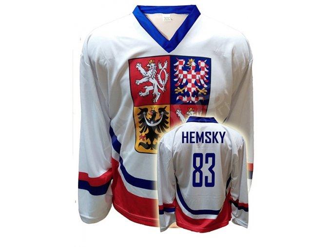 hokejovy dres cr ales hemsky bily