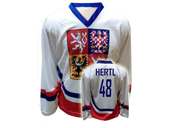 hokejovy dres cr tomas hertl bily