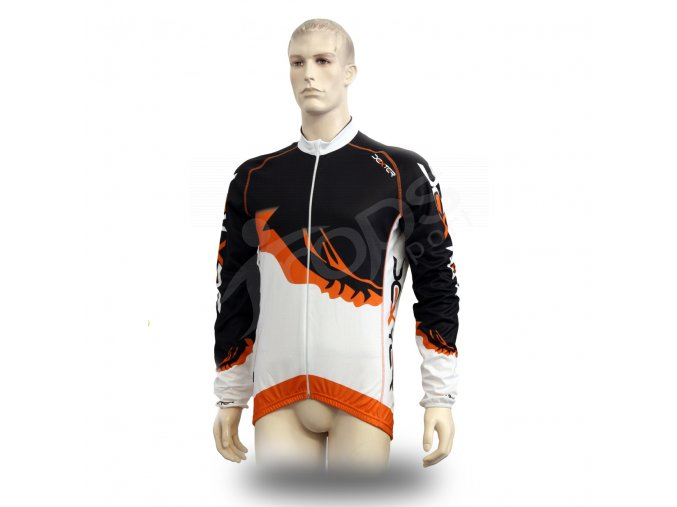 Cyklistický TERMO dres PROFI FOOT - oranžový